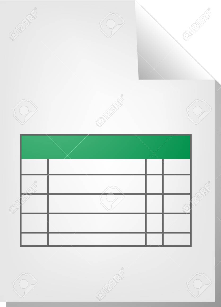 Table Chart Document File Type Illustration Clipart Stock Photo
