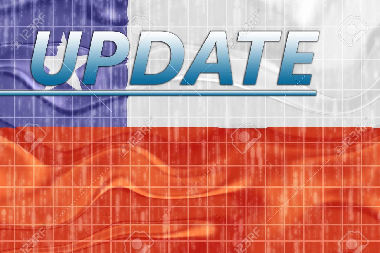 News information splash Flag of Chile, national symbol illustration clipart wavy Stock Photo - 6645999