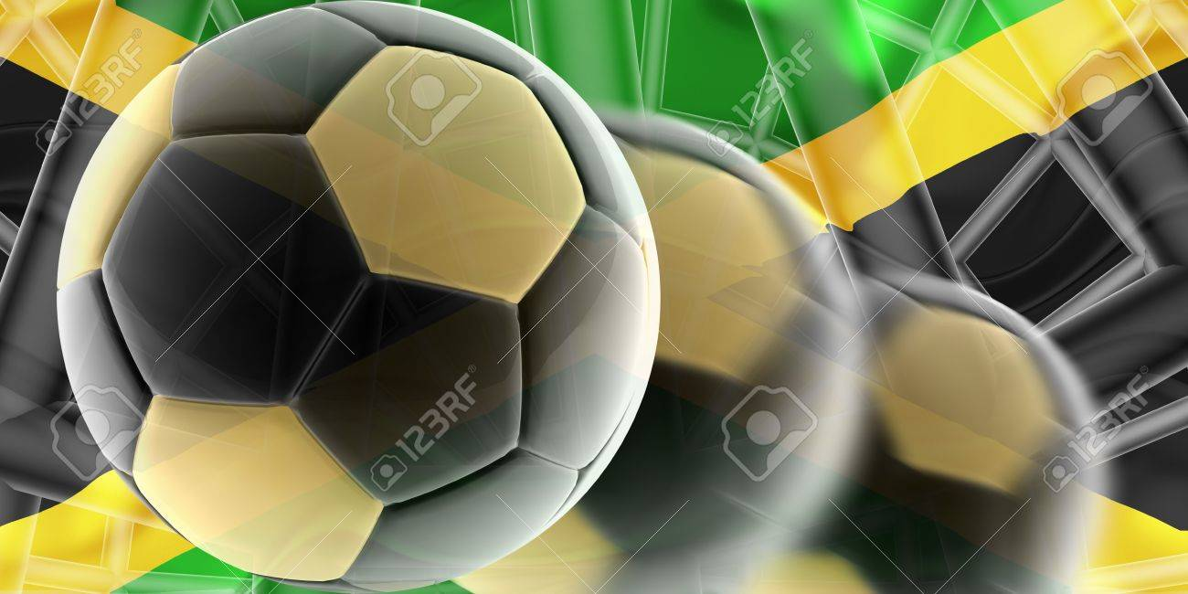 Flag of Jamaica, national country symbol illustration wavy sports soccer football Stock Photo - 6649280