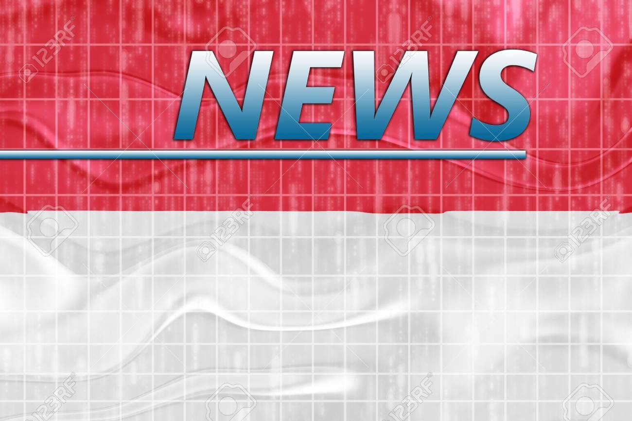 News information splash Flag of Monaco, national country symbol illustration wavy Stock Photo - 6706459
