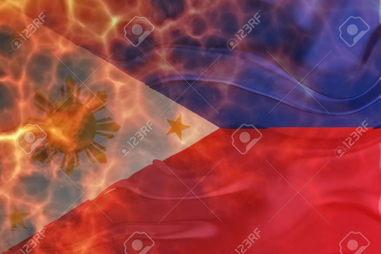 Flag of philippines national country symbol illustration wavy flag of philippines national country symbol illustration wavy burning flames fire stock illustration 6706455 buycottarizona Images