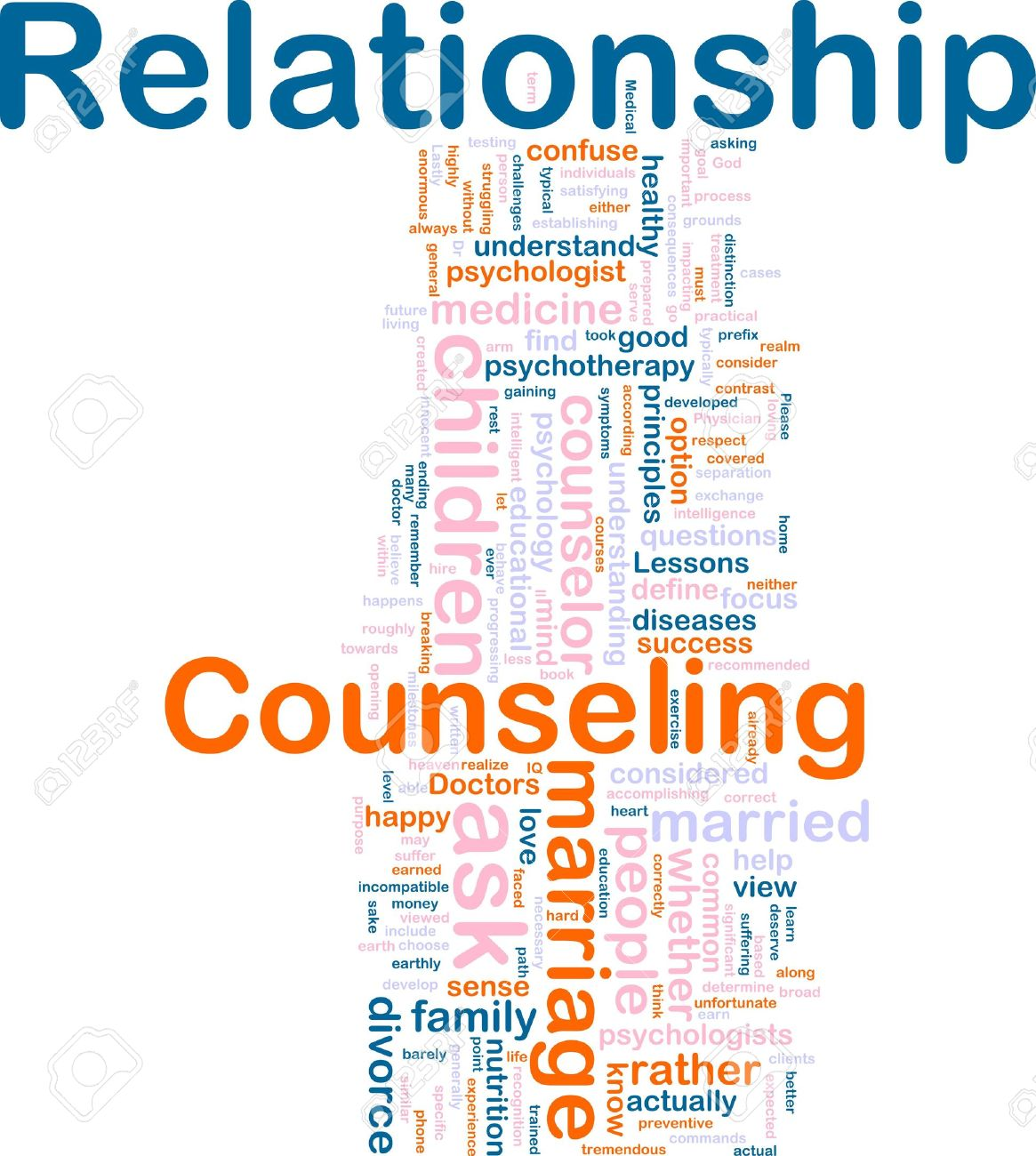 Word cloud concept illustration of relationship counseling - 6706701