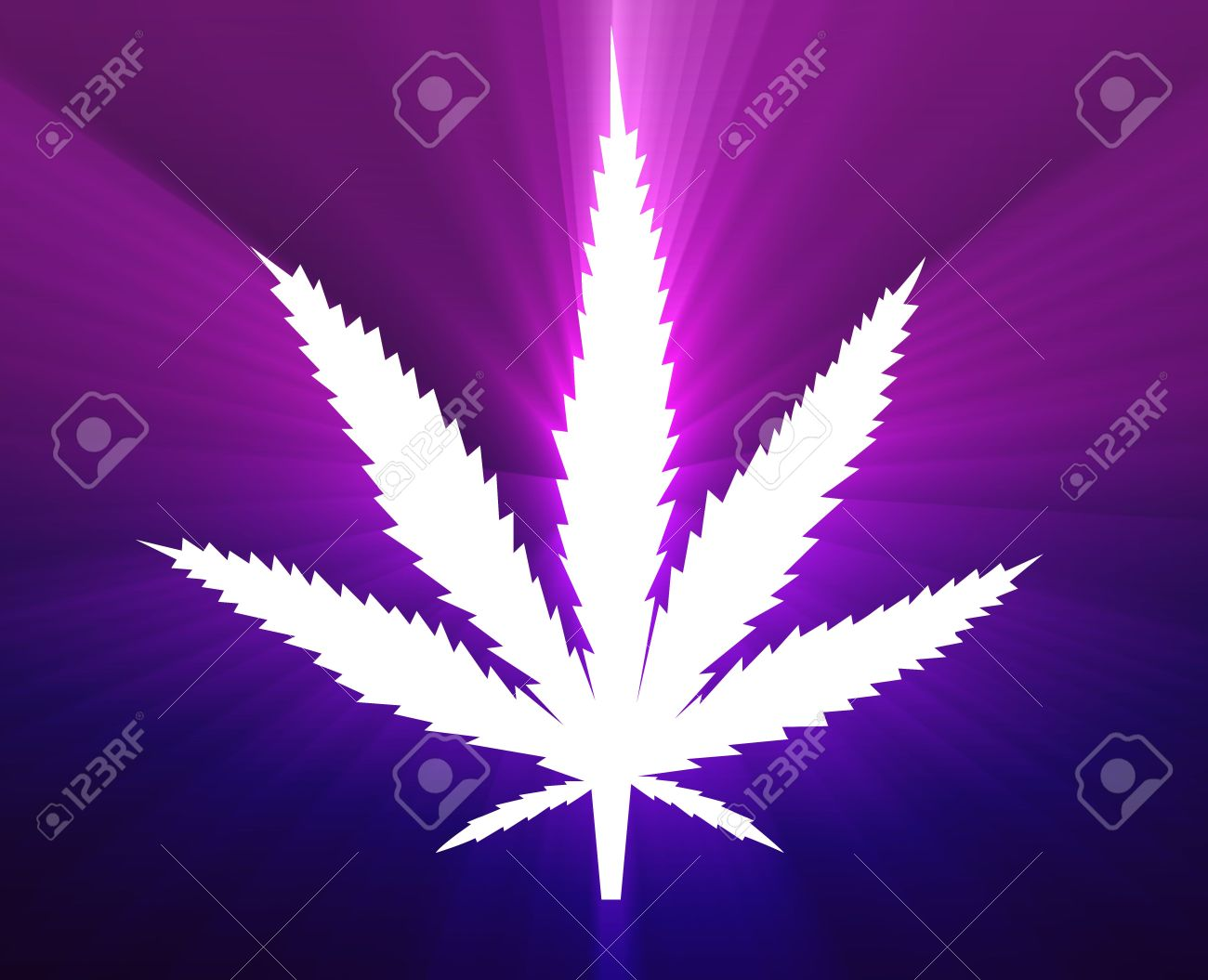 Marijuana cannabis leaf illustration, abstract symbol design Stock Photo - 6705880