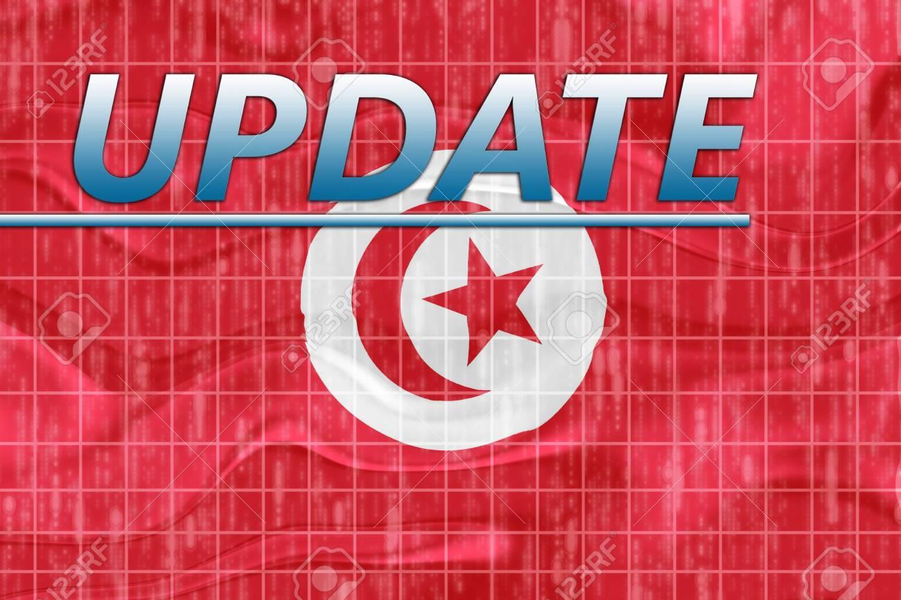 News information splash Flag of Tunisia, national country symbol illustration wavy Stock Illustration - 6711647