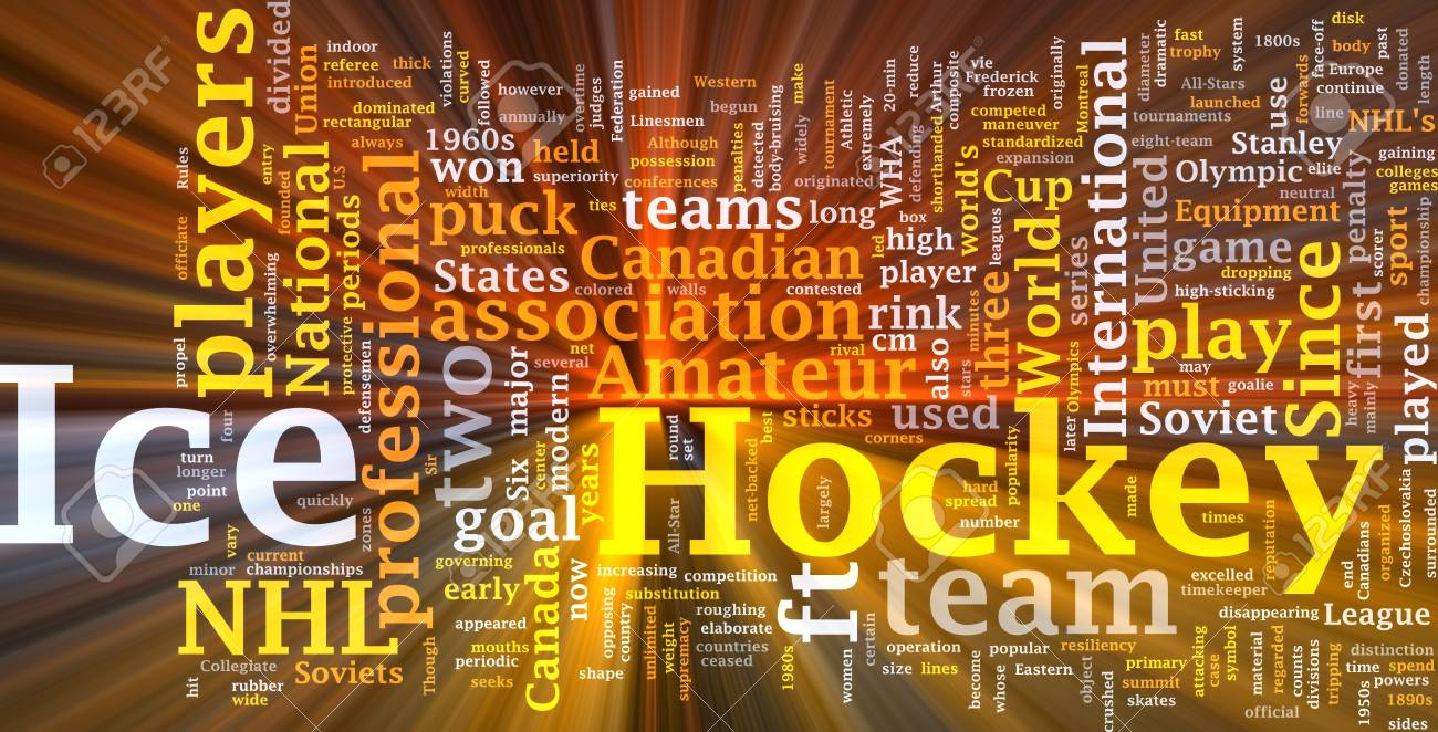 Software package box Word cloud concept illustration of ice hockey Stock Photo - 8635507