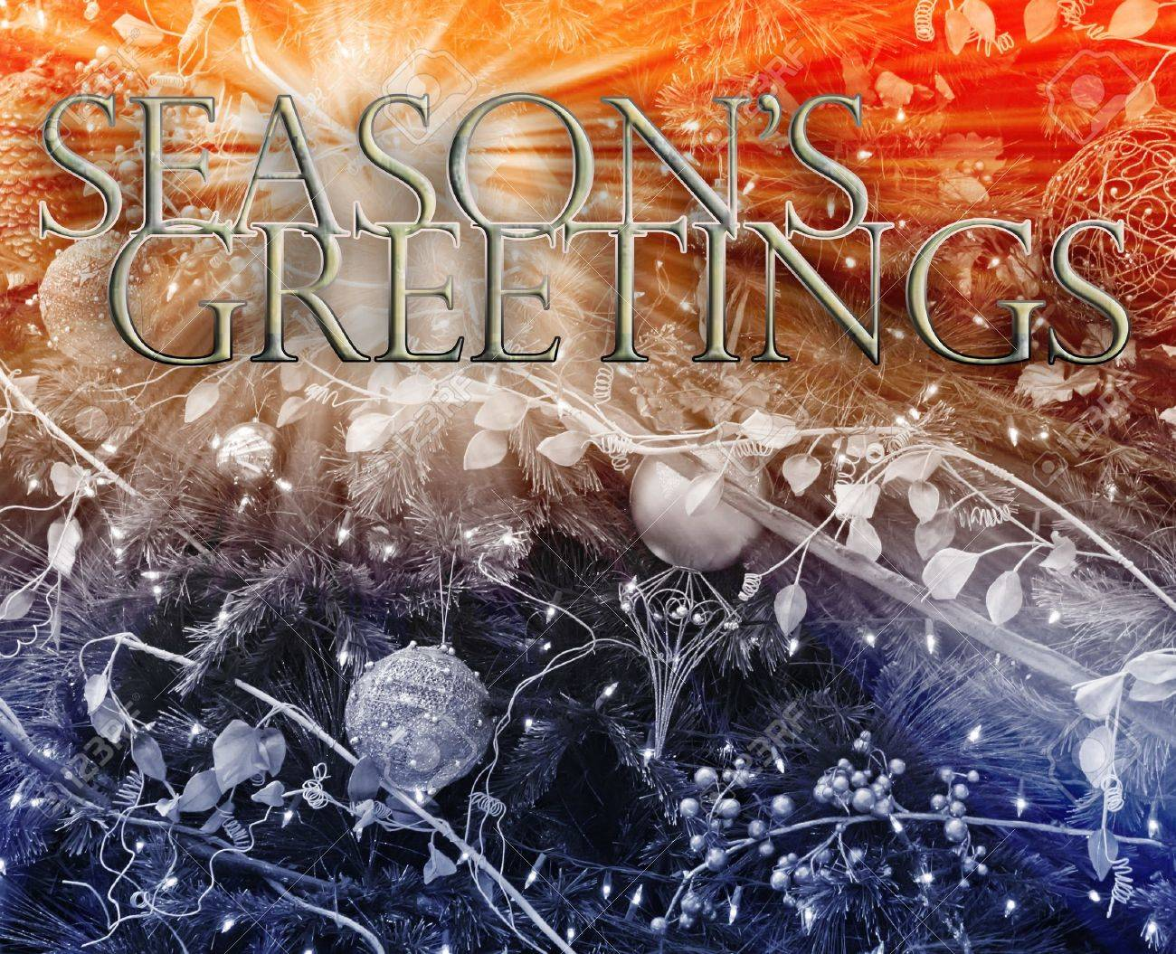Merry christmas seasons greetings happy new year concept background illustration Stock Illustration - 8635716