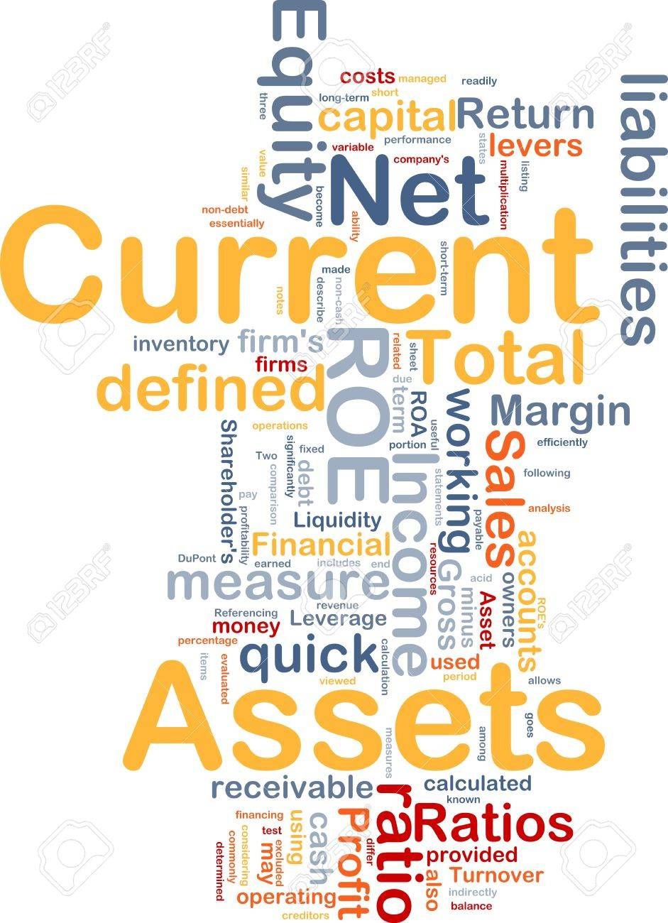 Background concept wordcloud illustration of finance current assets Stock Photo - 8634979