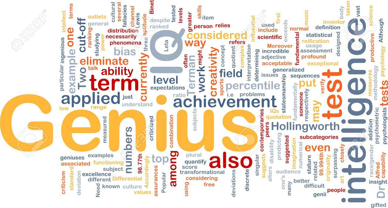 Background Concept Wordcloud Illustration Of Genius Intelligence