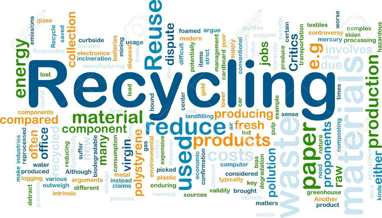 Background concept illustration of recycling waste materials Stock Photo - 8635257