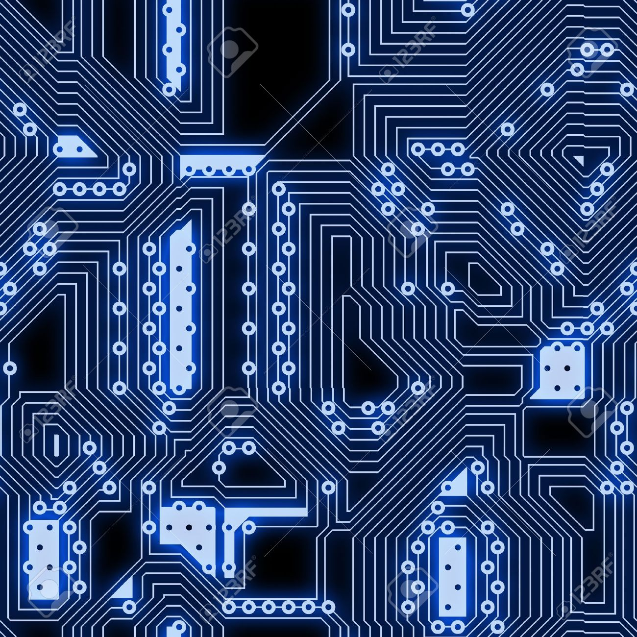 Glowing technology circuits abstract seamless background texture Stock Photo - 9298312