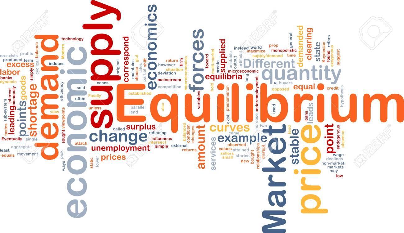 Background concept wordcloud illustration of equilibrium Stock Photo - 9464605