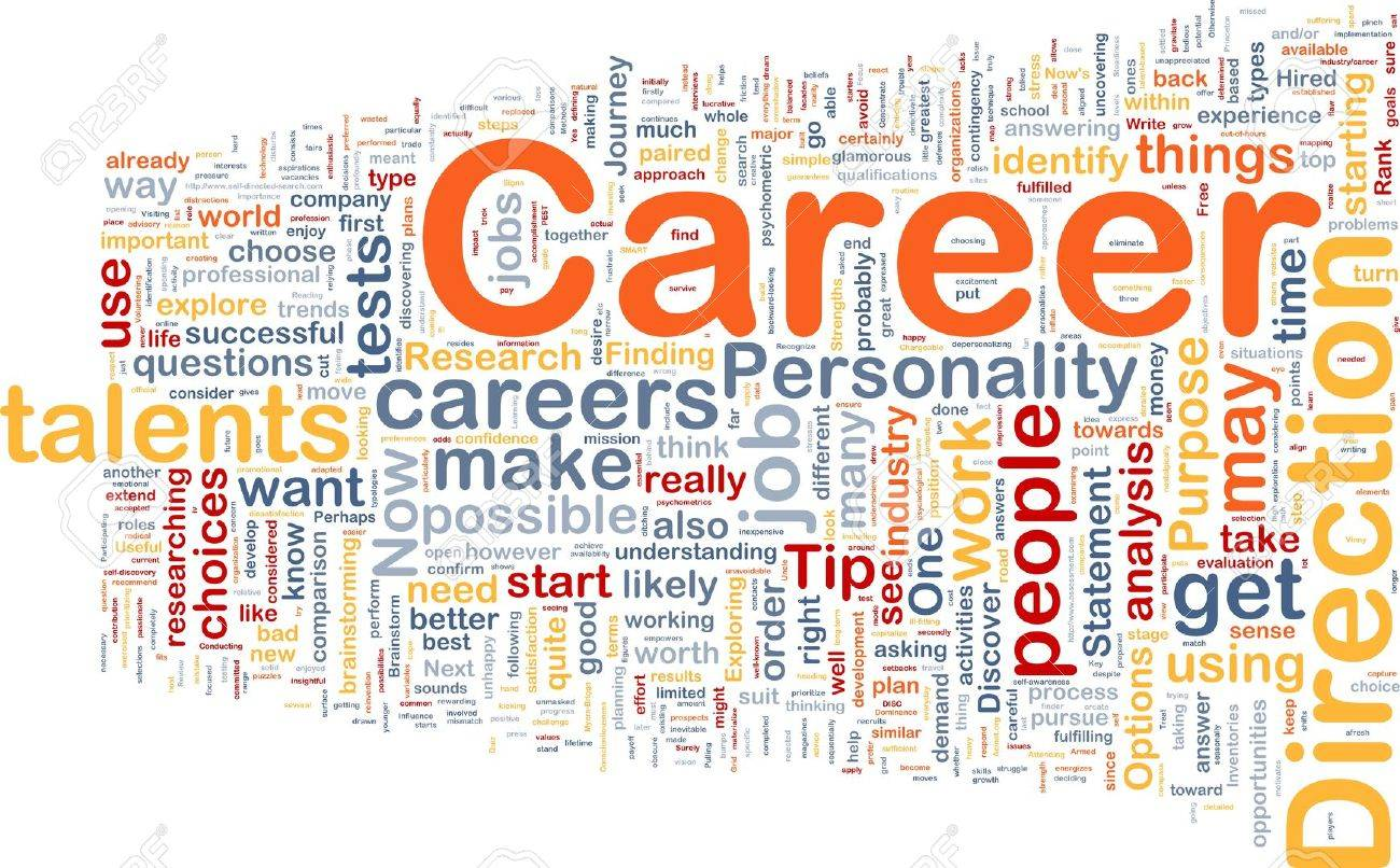 Background Concept Wordcloud Illustration Of Career Stock Photo ...