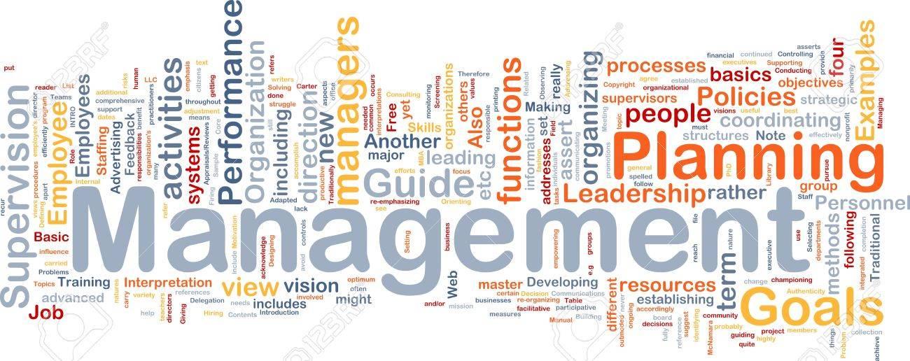 Background concept wordcloud illustration of management Stock Illustration - 9504005