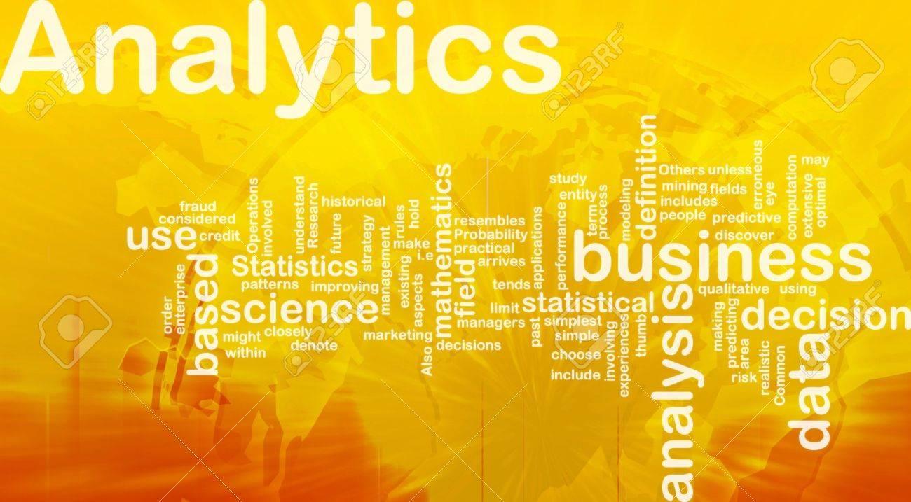 Background concept illustration of analytics business analysis international Stock Illustration - 9914724