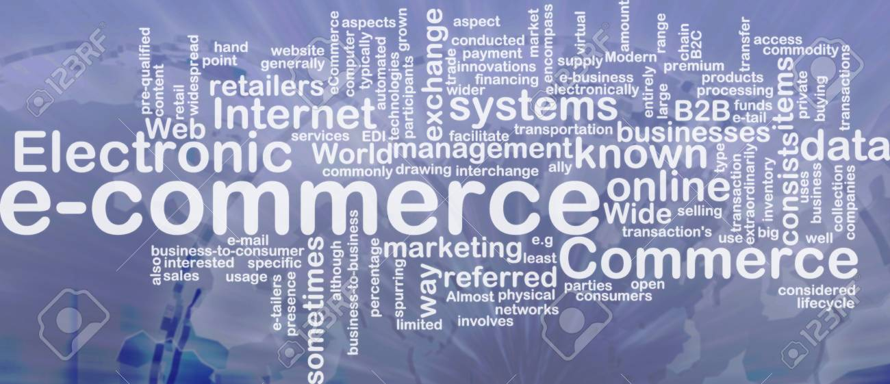 Word cloud concept illustration of e-commerce electronic commerce international Stock Photo - 9914720