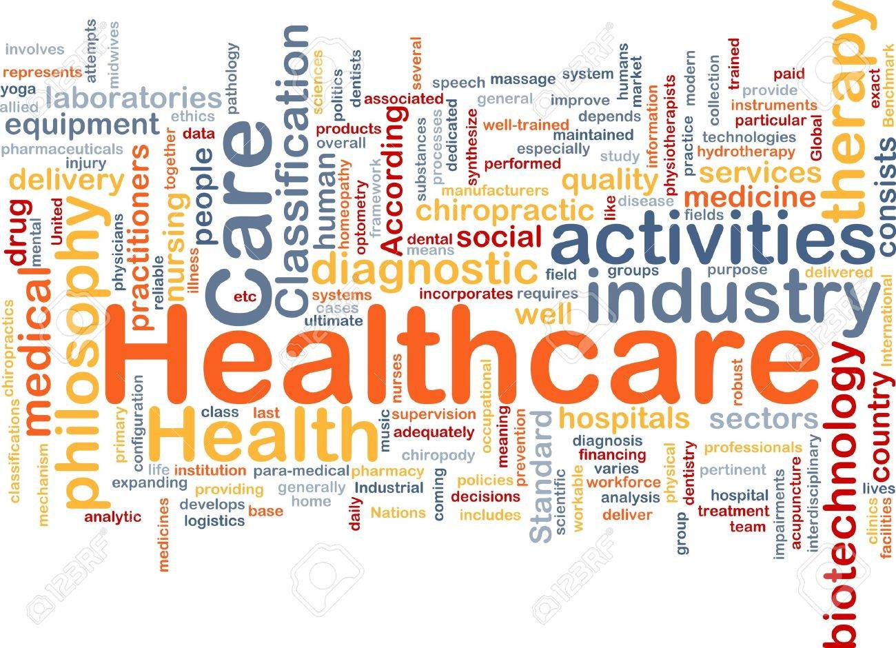 Background concept wordcloud illustration of healthcare Stock Illustration - 9914762