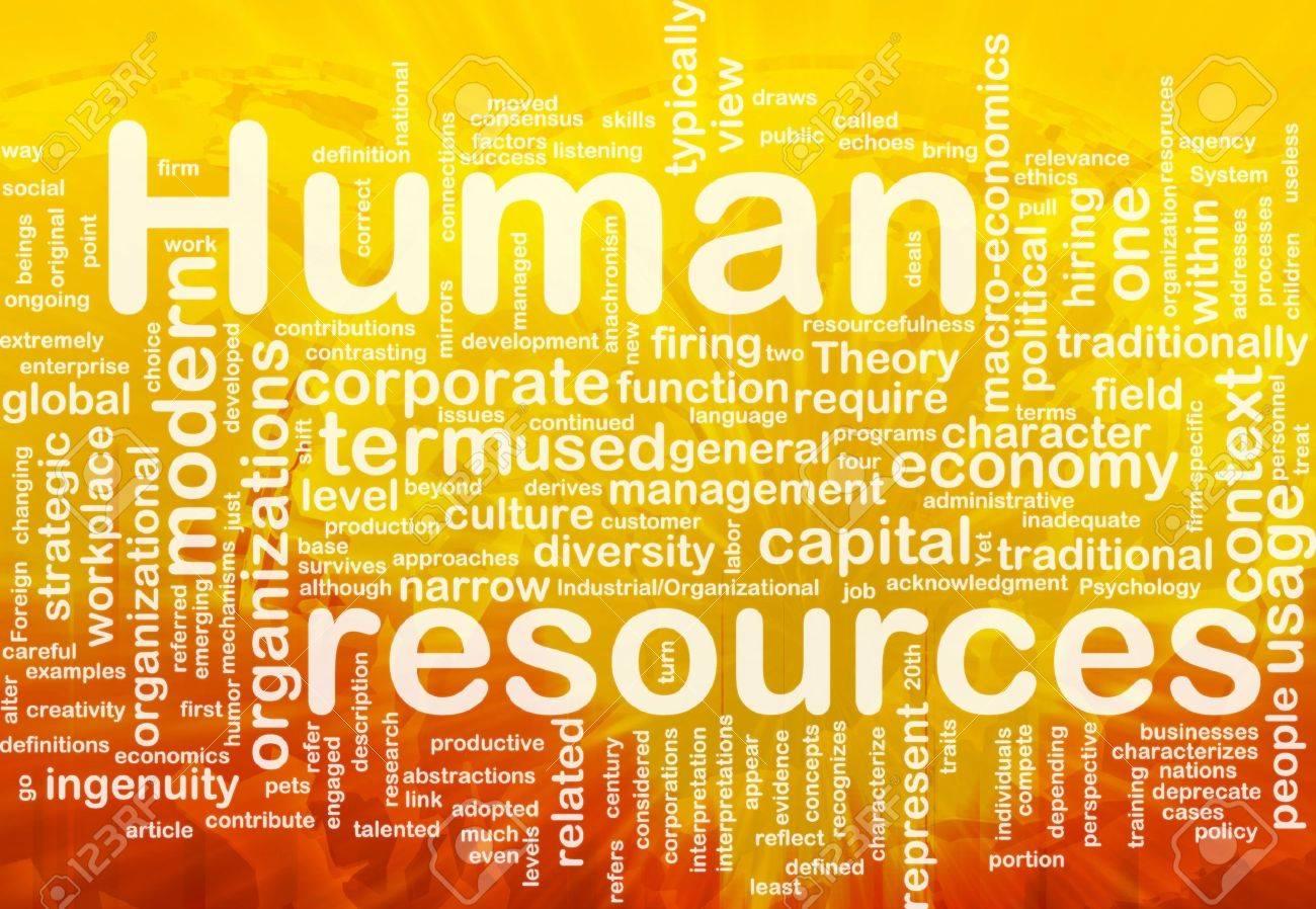Background concept illustration of human resources management international Stock Illustration - 9914805