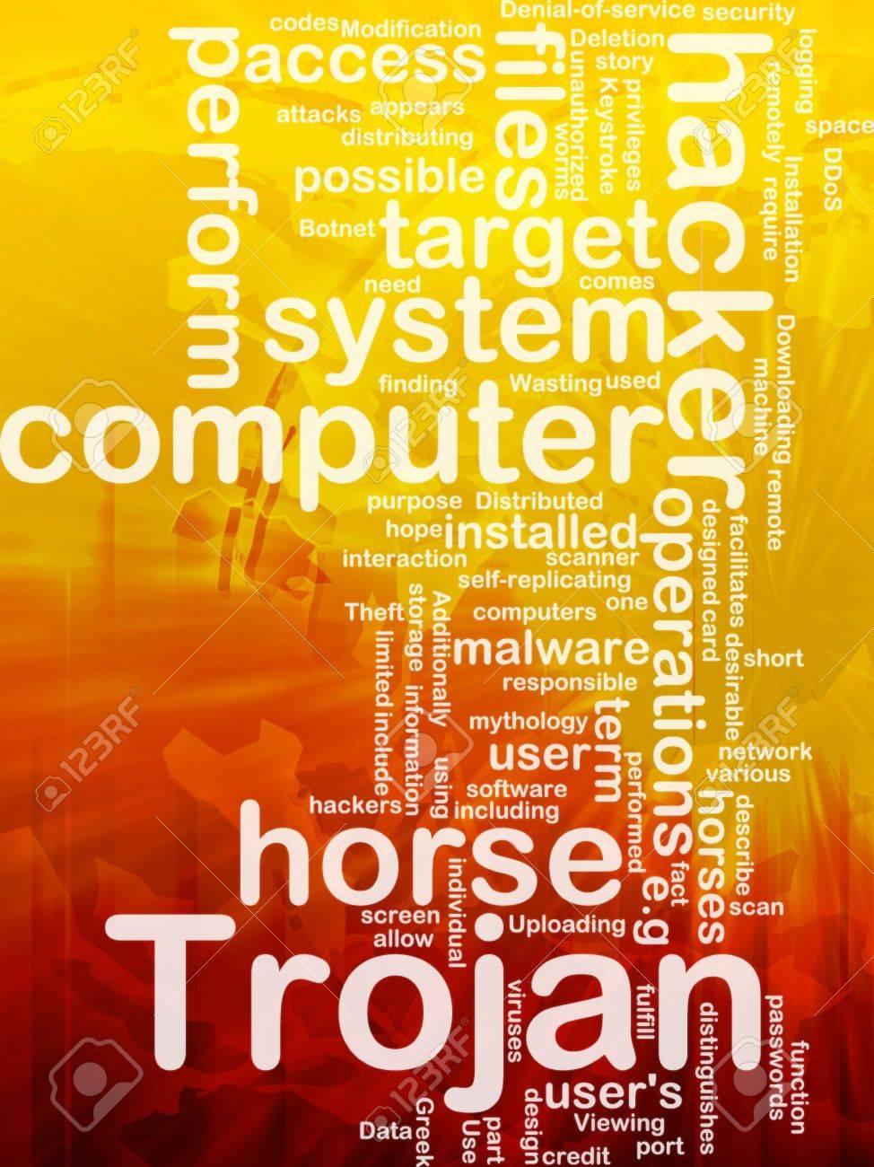 Background concept illustration of computer trojan horse international Stock Photo - 9914761