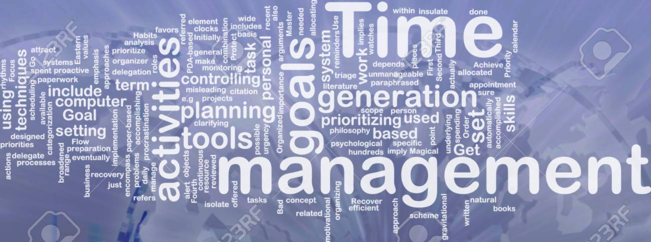 Word cloud concept illustration of time management international Stock Photo - 9914839