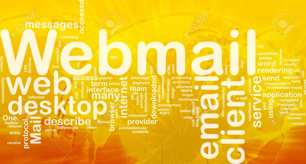 Background concept wordcloud illustration of webmail international Stock Photo - 10012045
