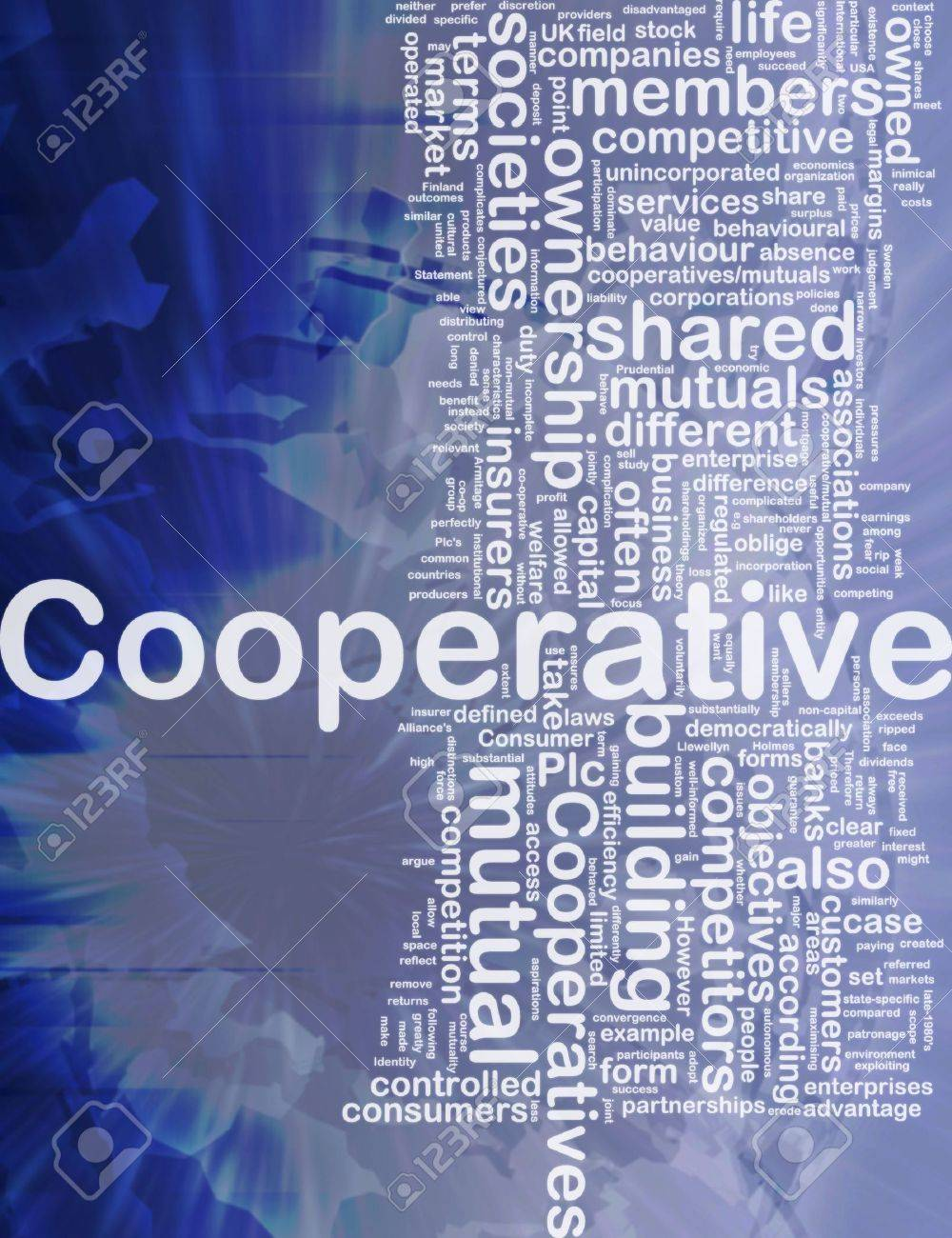 Background concept wordcloud illustration of cooperative international - 10287788
