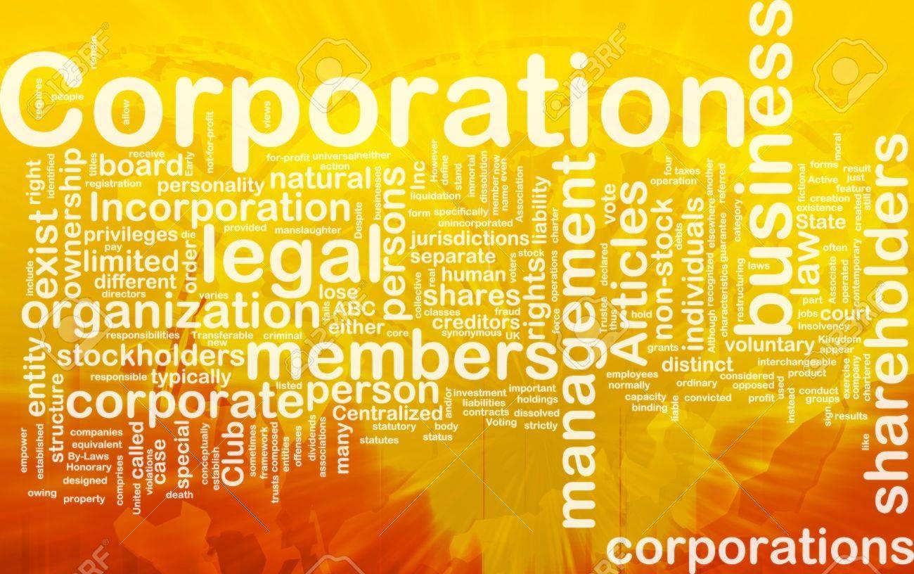 Background concept wordcloud illustration of corporation international - 10287825