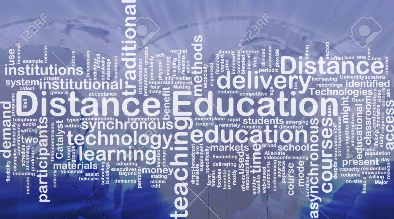 Background concept wordcloud illustration of distance education international - 10287801