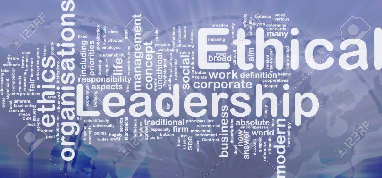 Background concept wordcloud illustration of ethical leadership international Stock Illustration - 10287635