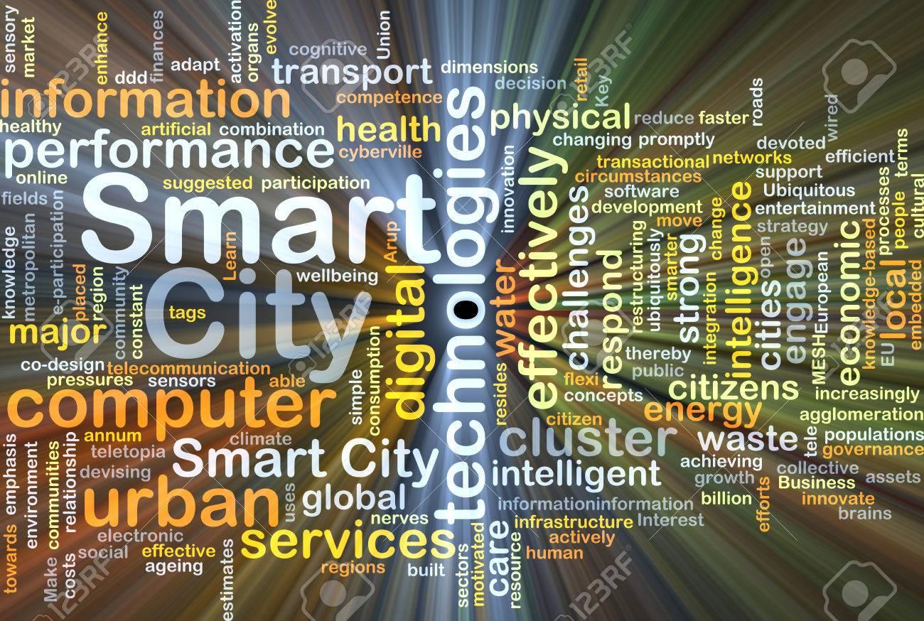 Background concept wordcloud illustration of smart city - 40187912