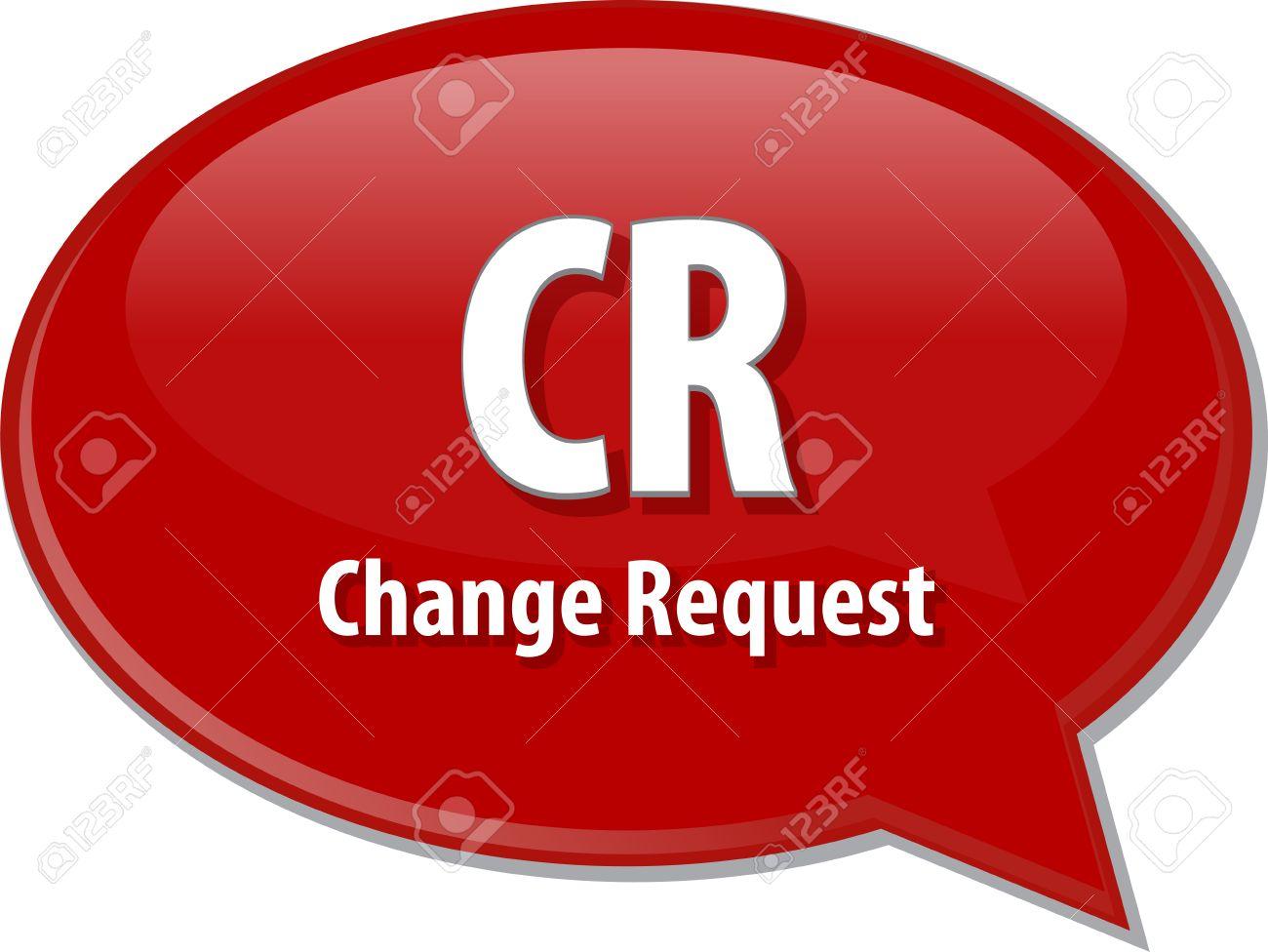Wort Sprechblase Abbildung Von Geschafts Akronym Begriff Cr Change