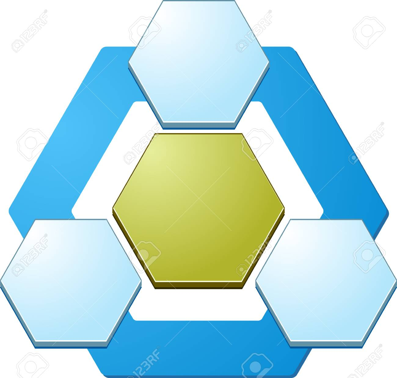 Blank business strategy concept relationship diagram illustration blank business strategy concept relationship diagram illustration hexagon shapes three 3 stock illustration 40388649 ccuart Gallery