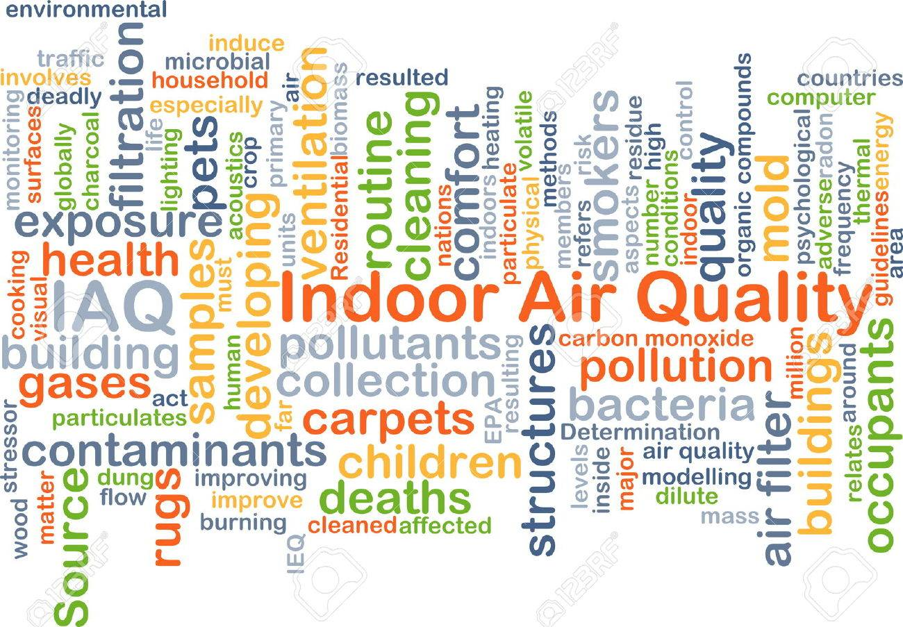 Background concept wordcloud illustration of indoor air quality IAQ - 42545298