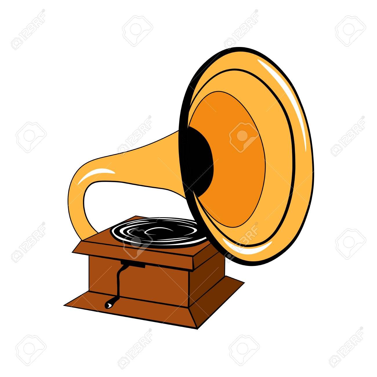 gramophone vector illustration isolated on white background royalty free cliparts vectors and stock illustration image 66655711 gramophone vector illustration isolated on white background