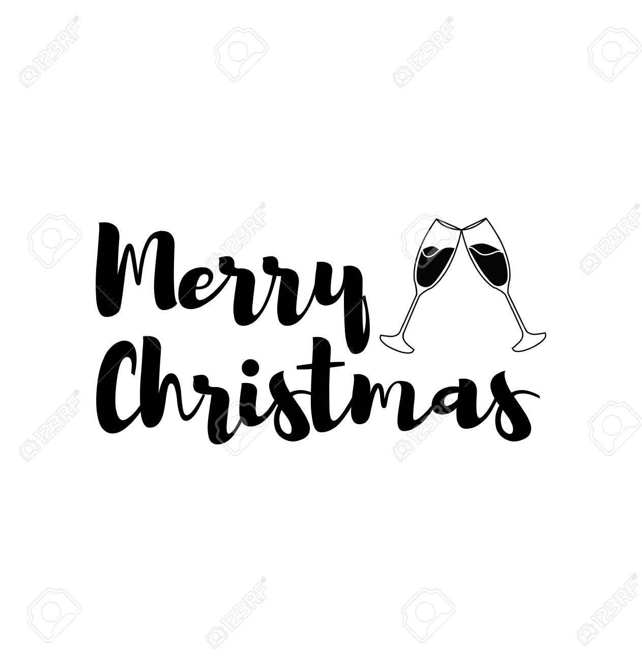 Frohe Weihnachten Aufkleber.Stock Photo