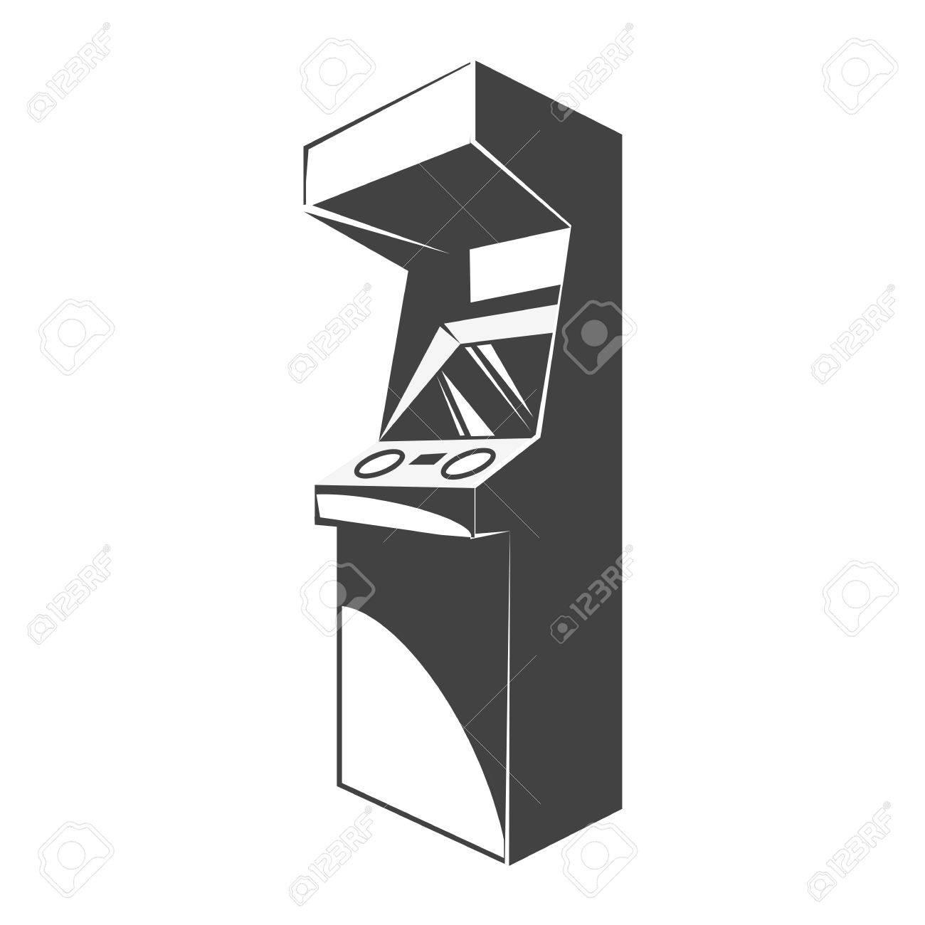 Retro Arcade Video Game Machine. Gaming Machine Icon. Vector ...