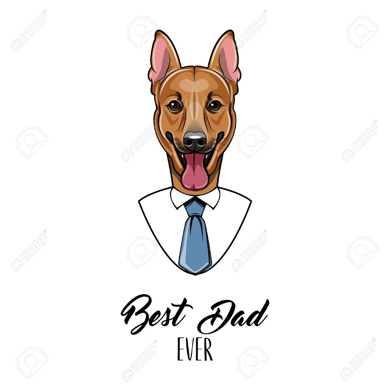 German shepherd dad fathers day greeting card best dad ever german shepherd dad fathers day greeting card best dad ever lettering with mens shirt m4hsunfo