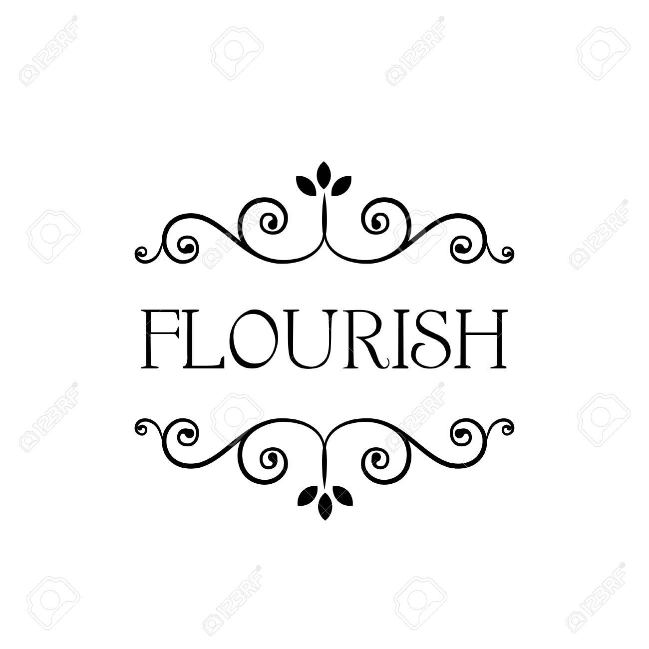 Floral Frame Ornaments Decoration Graphics Border Vintage Flourish Classic Wedding Clipart Transparent Background Label Tag 0507