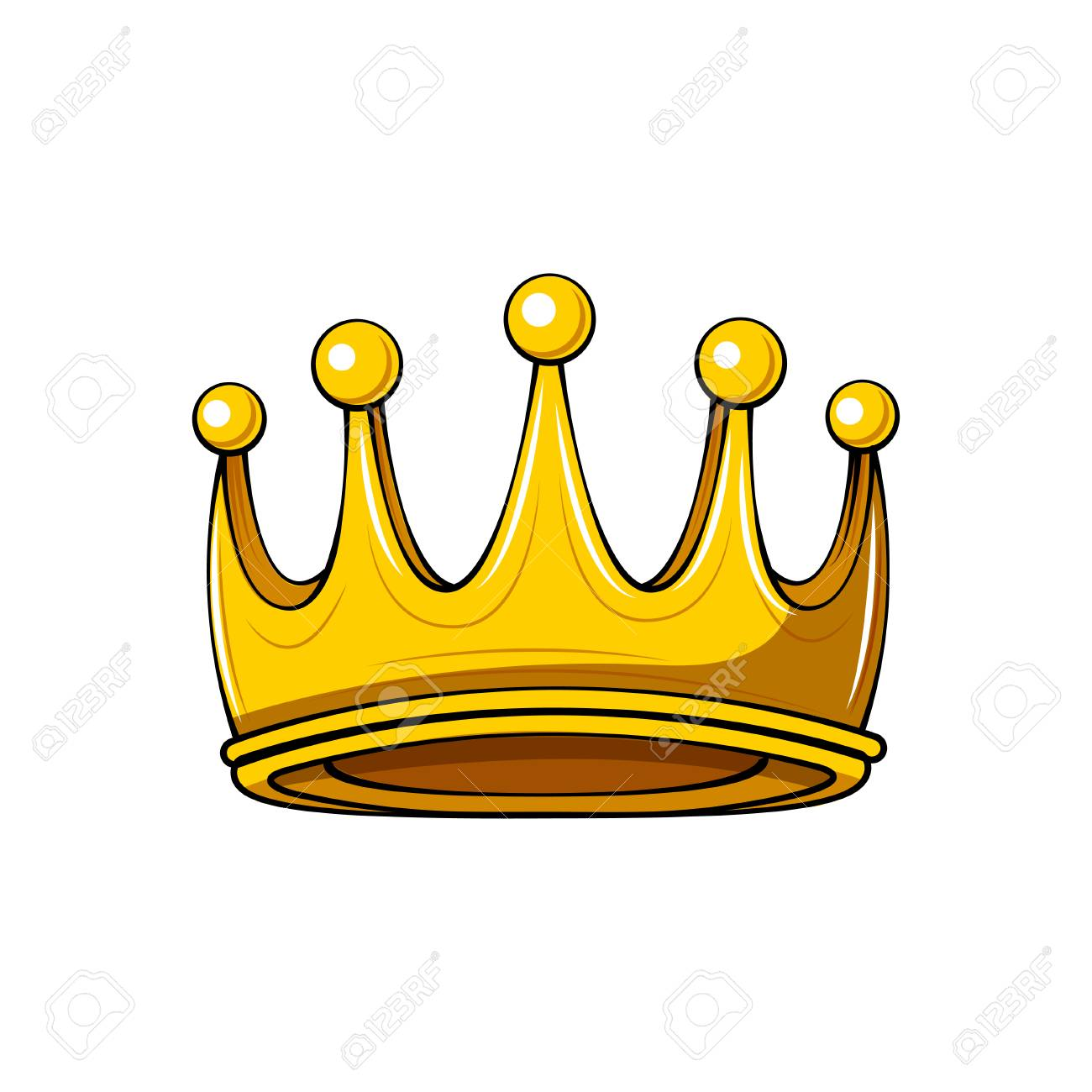 Golden Cartoon Crown Royal Badge King Symbol Queen Sign Design Royalty Free Cliparts Vectors And Stock Illustration Image 103665059 Crown cartoon stock photos and images. golden cartoon crown royal badge king symbol queen sign design