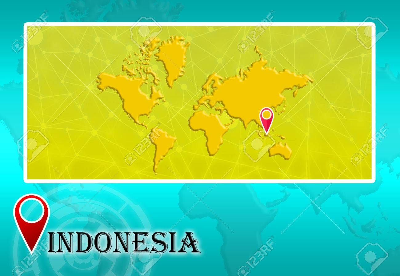 Indonesia in world map with pointer and location stock photo indonesia in world map with pointer and location stock photo 73523913 gumiabroncs Gallery