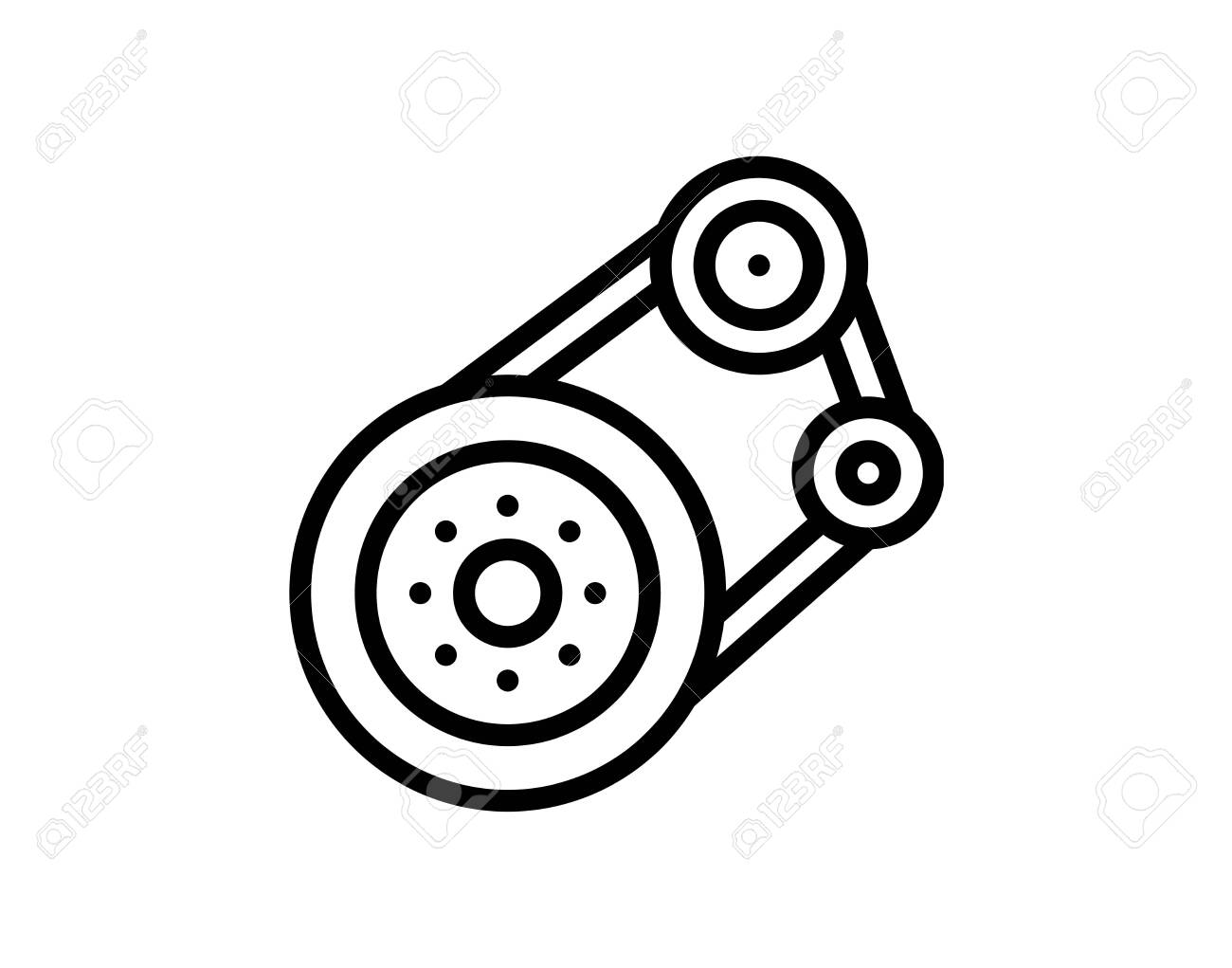 Linear Car Transmission Icon From Car Parts Outline Collection Royalty Free Cliparts Vectors And Stock Illustration Image 140107001
