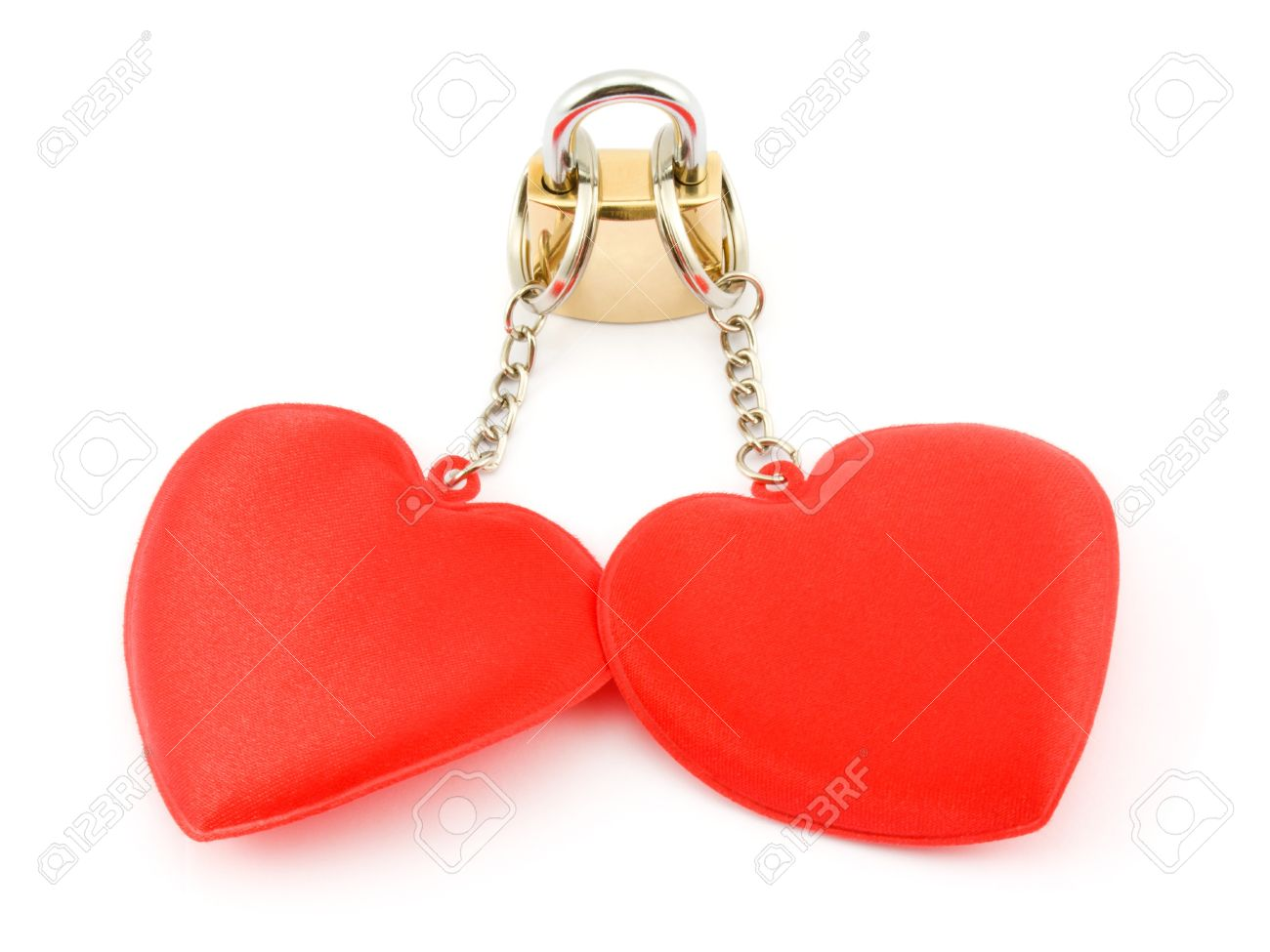two hearts on the lock stock photo picture and royalty free image
