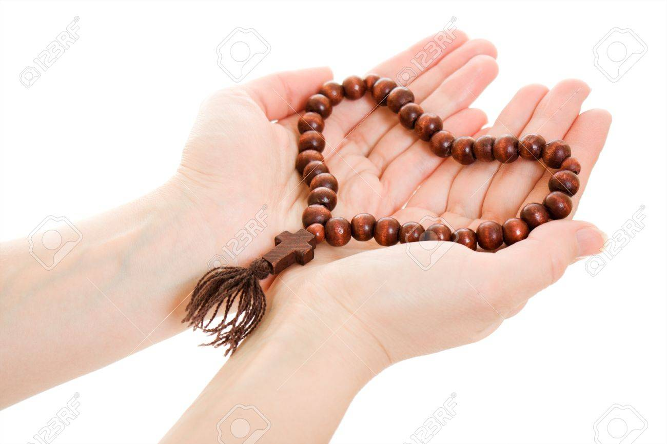 Rosary with his hands 45