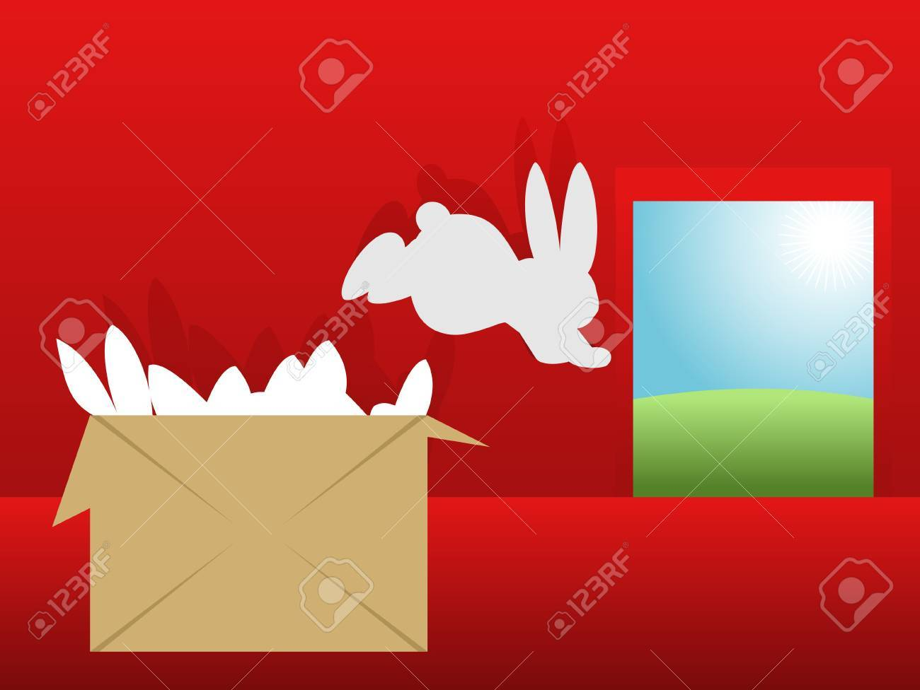 The rabbit escapes on freedom Stock Vector - 15520115