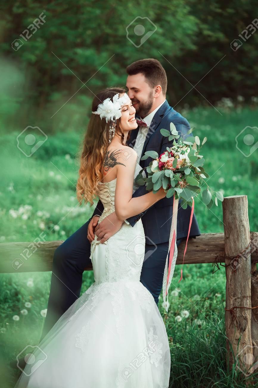 Boho Stil Hochzeit Vintage Hochzeit Braut Und Brautigam