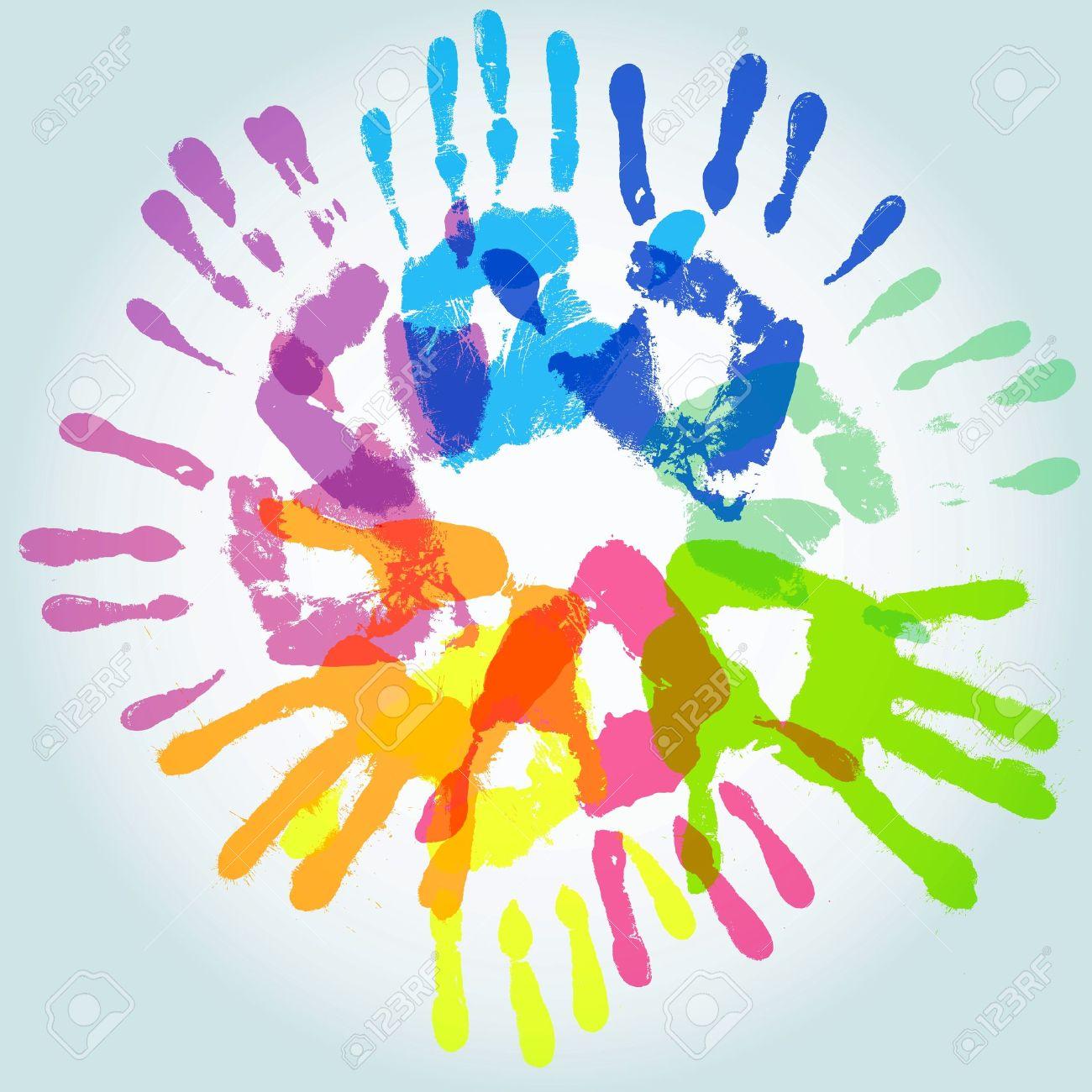 Colorful handprint, vector illustration Stock Vector - 11562803