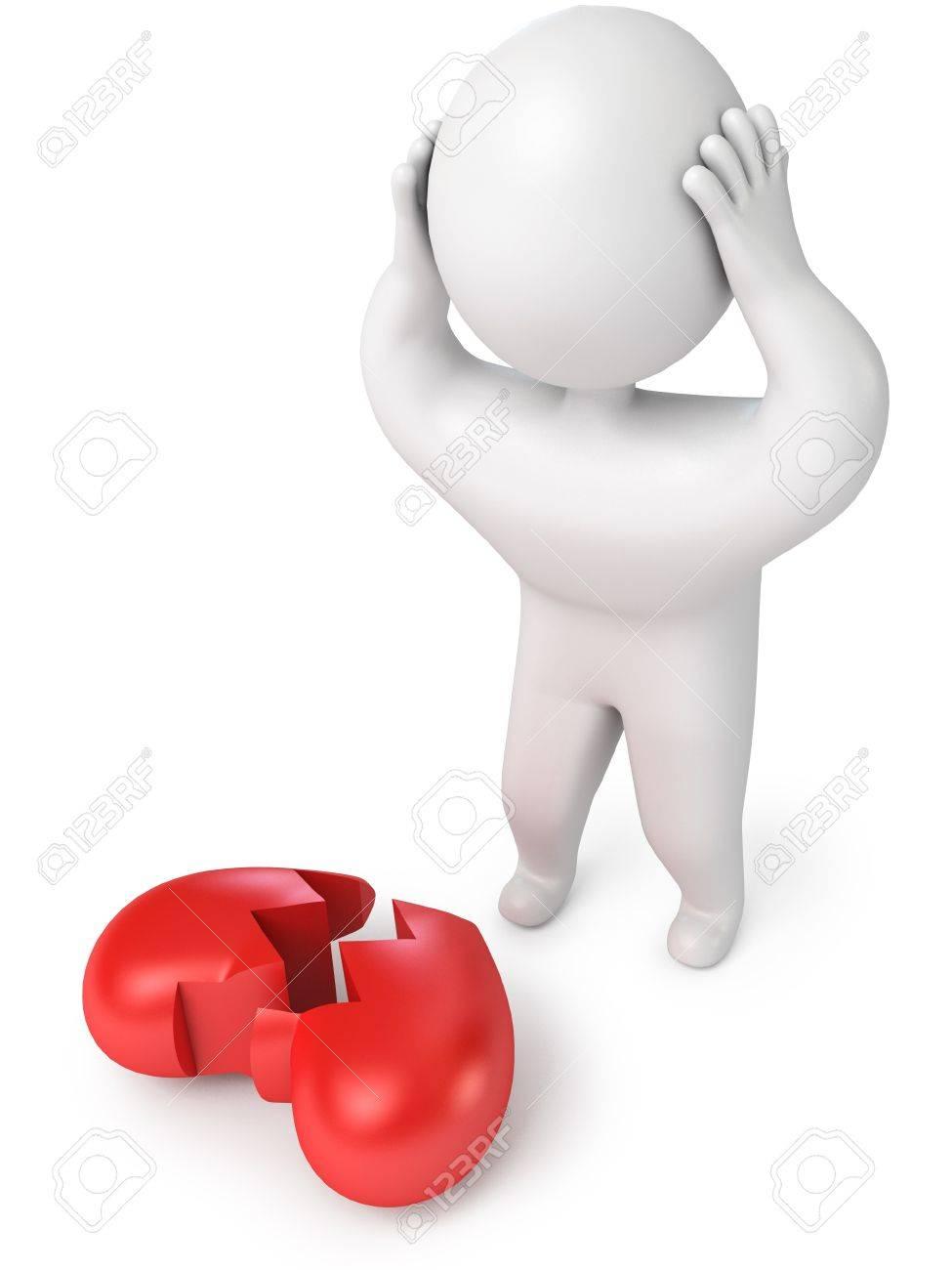 A broken heart, 3d render Stock Photo - 13923735