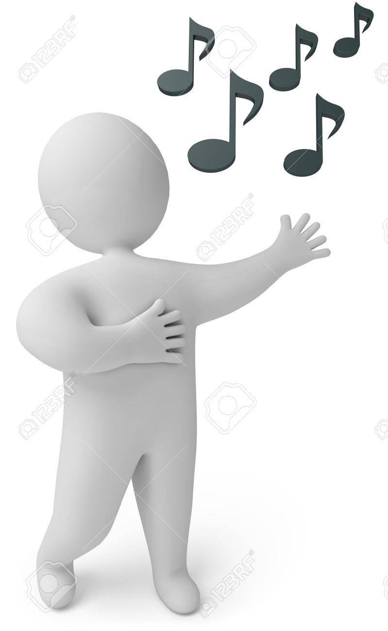 A man sings, 3d render Stock Photo - 13923732