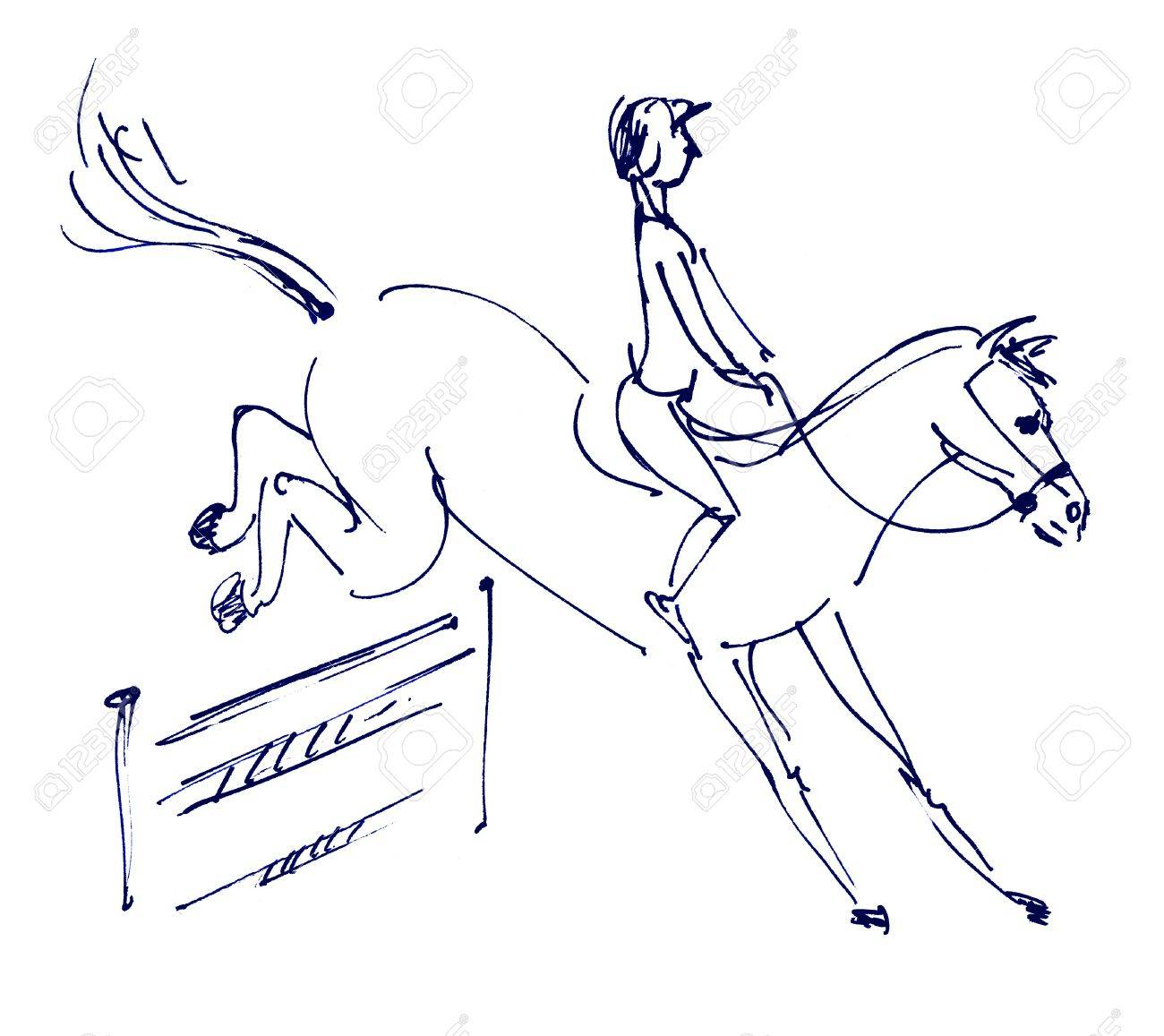 How To Draw A Jumping Horse Step By Step Drawing Tutorials