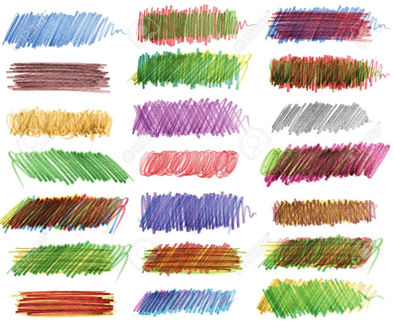 Dibujo A Lápiz Trazos De Lápices De Colores Fotos Retratos