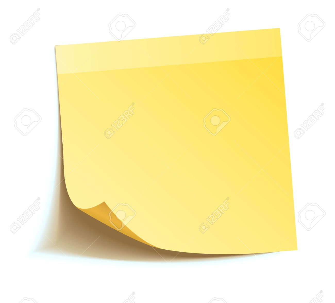 Yellow stick note isolated on white background Stock Vector - 16907263